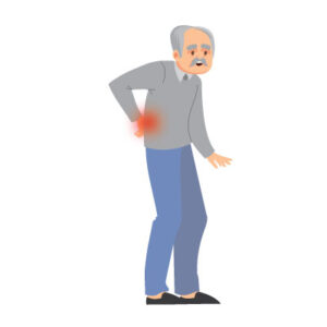 free vector Indian Old man with back pain