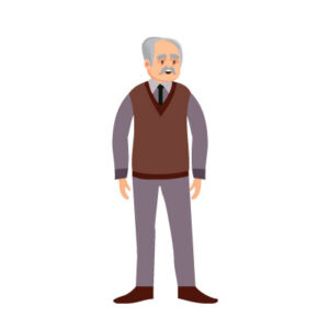 Free Vector indian old man standing