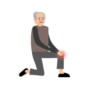 Free vector Indian old man with knee pain vector