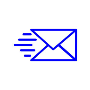 send message icon on white background free vector