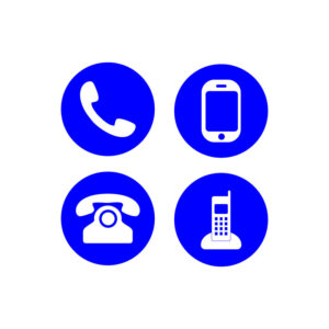 phone icon collection call sign free vector