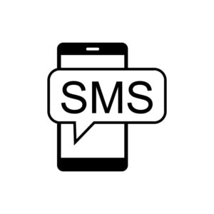sms icon. phone free vector