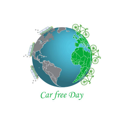 Free Vector car free day