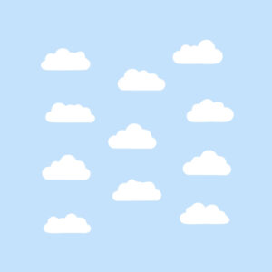 set of clouds. cloud icon. Free Vector illustration