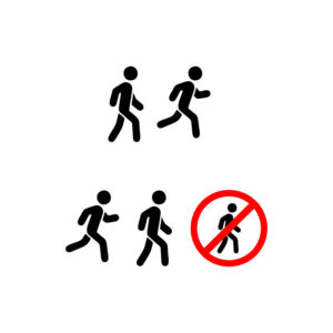 Walk icon. run icon. walking and running sign free vector
