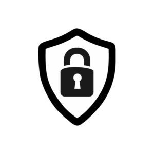 security sign. shield with padlock. free vector