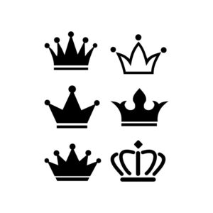Crown icons collection. free vector illustration