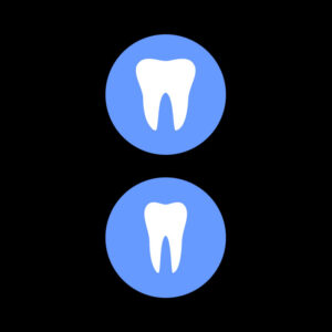 Free Vector Tooth icon with shadow. free Vector
