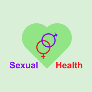 World Sexual health day vector illustration poster concept. connected male female gender sex symbol with heart banner background template flat graphic style free vecotr