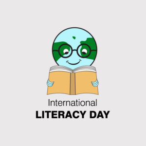International literacy day. international literacy day poster. education concept. happy teacher day vector. world book day free vector