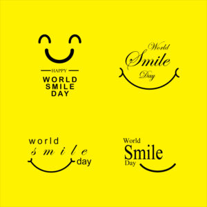World smile day design template free vector